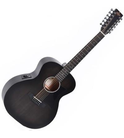 Guitarra electroacustica Sigma GM12E-BKB 12 cuerdas