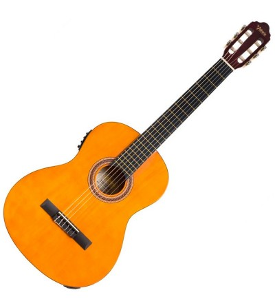 Guitarra clasica Valencia VC104E Electrificada Natural Brillo
