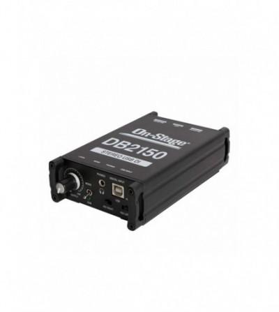 CAJA DE INYECCION ON STAGE DB2150 STEREO USB DIRECT BOX
