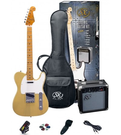 Pack Guitarra Eléctrica SX PACK SE2 TIPO TELE BUTTERSCOTCH BLONDE + AMPLIFICADOR