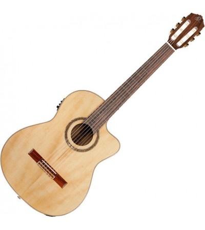 ORTEGA Guitarra clásica electrificada con cutaway RCE158MN